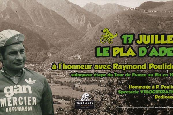 Le champion cycliste a été honoré à Saint-Lary pour sa victoire devant Merckx en 1974