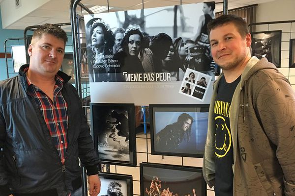 """Sébastien Bance et Ludovic Schneider, deux des photographes de l'exposition """"même pas peur"""""""