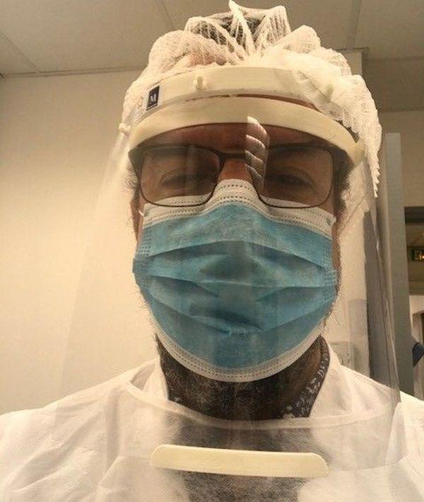 A. El Marraki dans son laboratoire d'analyses médicales à Montpellier