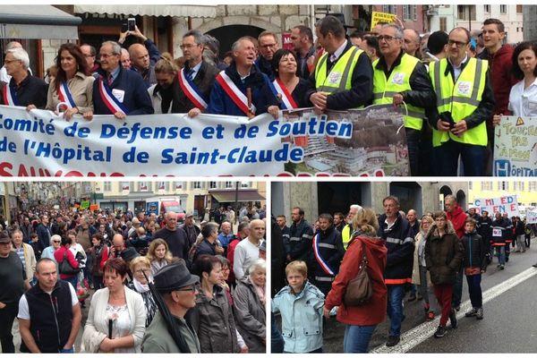 Manifestation du 13 mai 2017 pour sauver l'hôpital de Saint-Claude dans le Jura