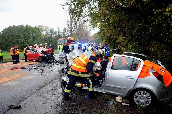 Un choc frontal a fait deux blessées grave sur la RD417 à Wintzenheim ce jeudo 7 novembre.