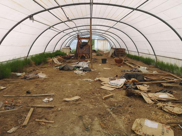 L'état du terrain avant d'être transformé en ferme urbaine
