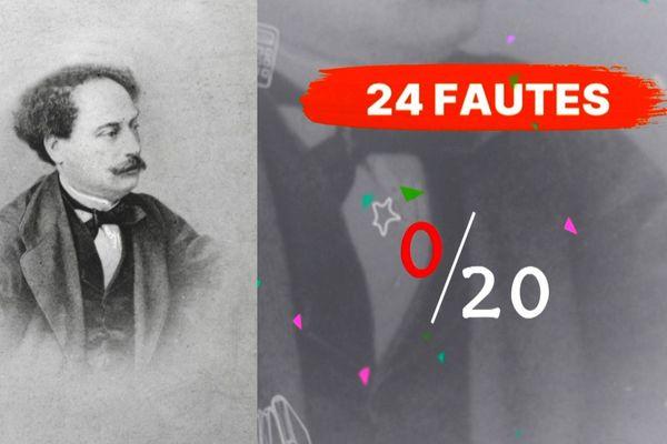 Alexandre Dumas fils, pourtant académicien, 24 fautes.