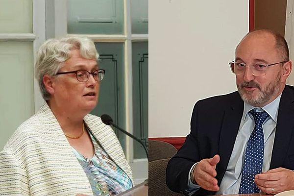 Marie-Françoise Lecaillon, préfète du Gard et Thierry Bonnier, préfet de l'Aude prennent leurs fonctions le 8 mars 2021.