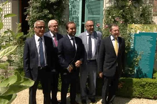 Les cinq présidents des départements normands réunis ce lundi 29 juin à Giverny
