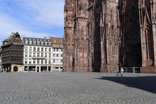 Le centre-ville de Strasbourg désert lors du premier confinement en mars 2020, voila le genre de photo recherchée par le musée de Lörrach.