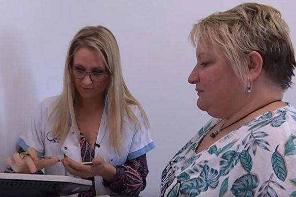 Une patiente au centre médical nutrition-obésité de Dijon.