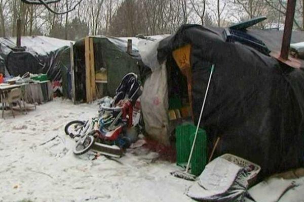 Campement de Roms à Metz