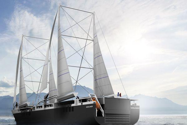 Maquette du bateau en mer