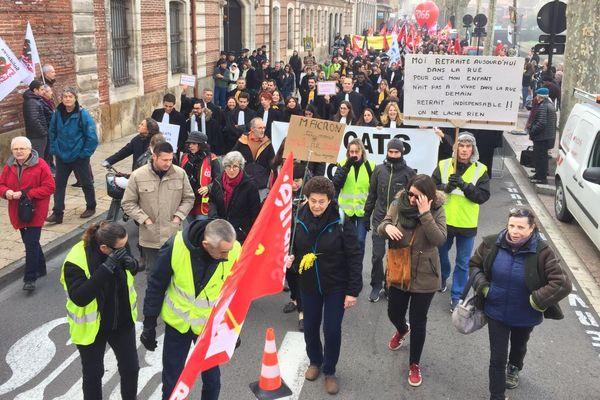 Perpignan - manifestation contre la réforme des retraites - 16 janvier 2020.
