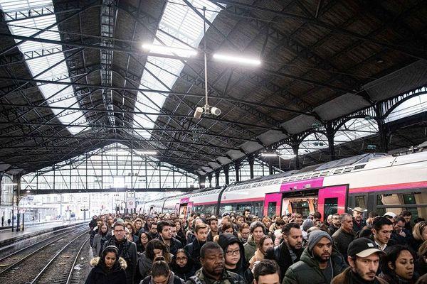 Gare Saint-Lazare le 16 décembre