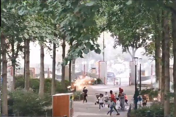 Des tirs de mortiers ont résonné dans un parc du XIXe arrondissement