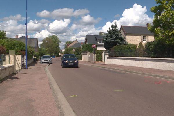 La rue de la République à Garchizy où a eu lieu l'accident.