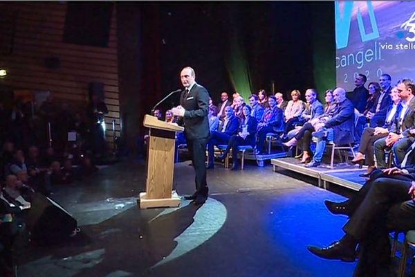 Le maire sortant d'Ajaccio, Laurent Marcangeli, a présenté sa liste aux prochaines élections municipale jeudi 23 janvier.