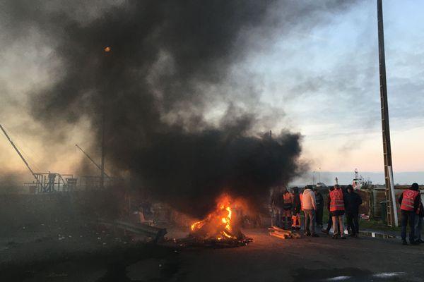Action de blocage le samedi 11 janvier 2020 sur le port de Montoir-Saint-Nazaire