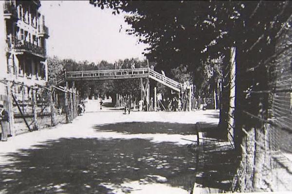 Une partie du camp de Vittel.