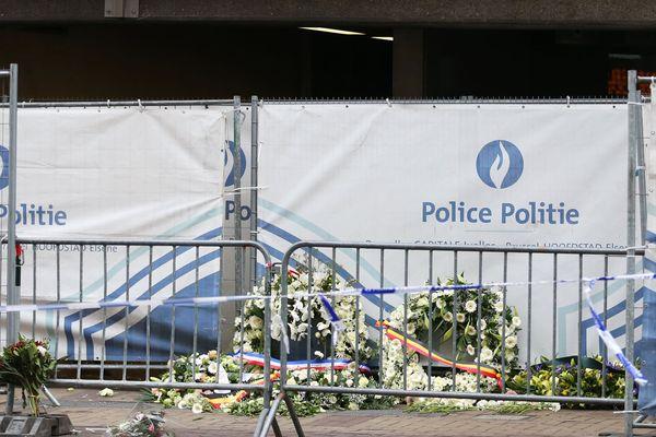 La station de métro Maalbeek à Bruxelles, cible d'un attentat suicide le 22 mars 2016.