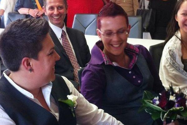 Fabienne et Sandra, premières lorraines à se marier.