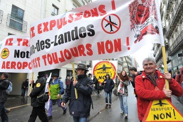 Lors de la manif anti Notre-Dame-des-landes le 22 février 2014