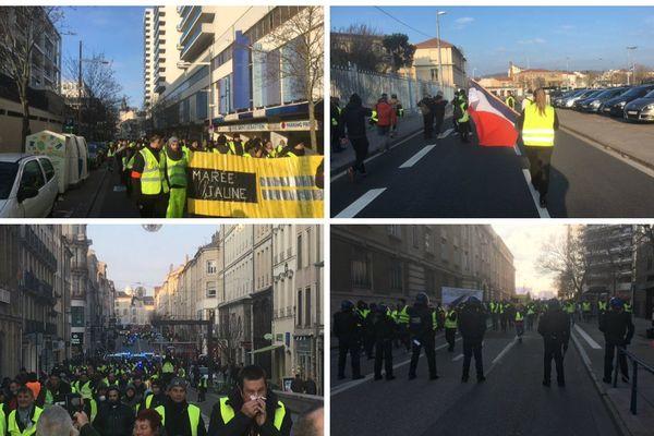 Les manifestations de gilets jaunes se sont succédées à Nancy pendant l'hiver 2018-2019.