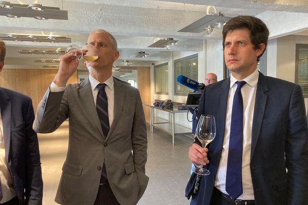 Franck Riester et Julien Denormandie à Epernay.