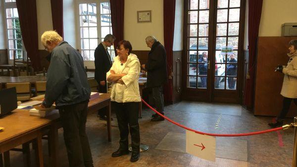 Un bureau de vote à Wissembourg.