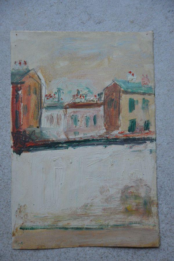 Maisons et immeubles de Montmartre peints par Maurice Utrillo vendus aux enchères