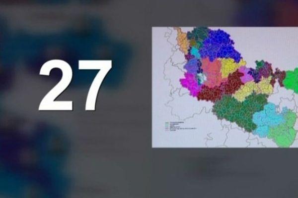 La Moselle passerait en 2015 de 51 à 27 cantons.