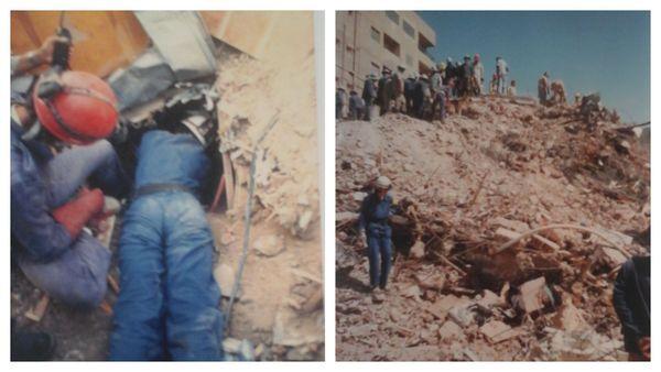 Intervention après le séisme du 12 octobre 1992 au Caire, qui a fait plus de 150 victimes et détruit de nombreuses habitations de la capitale égyptienne. Un mois avant, Catherine Hugary était dans le Vaucluse suite à des inondations.
