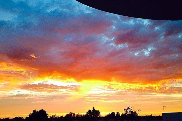 Coucher de soleil en juillet à Trignac.