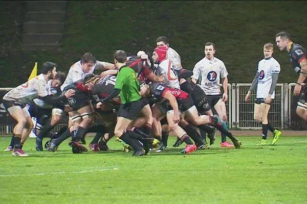 Le Rouen Normandie Rugby magistral au stade Mermoz le 12 janvier