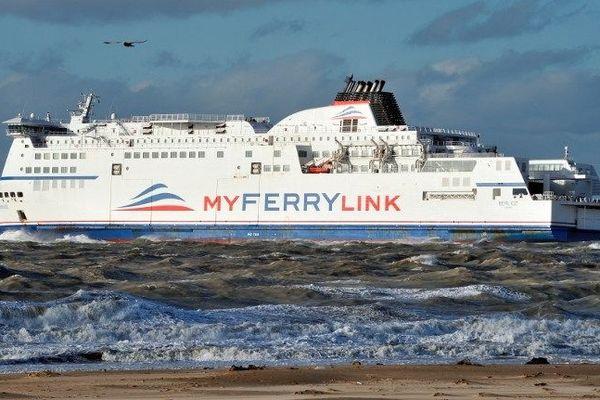 Le Berlioz, ancien navire de SeaFrance, a été racheté par Eurotunnel et loué à MyFerryLink.
