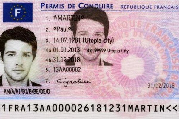 Le nouveau permis de conduire.