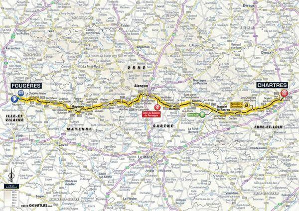 La carte de la 7e étape du Tour 2018