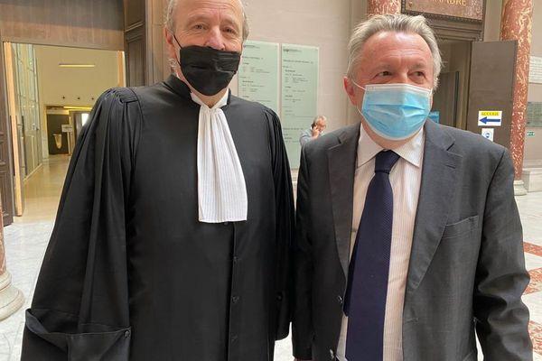 02.04.2021. Me Dominique Mattei et son client, le sénateur Jean-Noël Guérini.