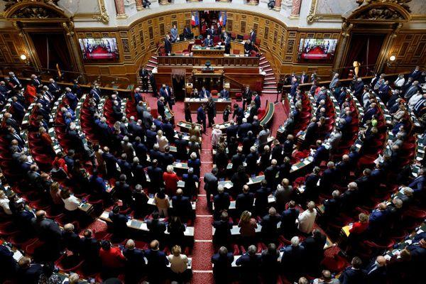 Le Sénat au grand complet lors de la première session après le vote concernant le renouvellement de la moitié des sièges le 17 septembre 2020.