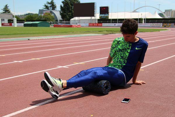 L' albigeois Renaud Clerc lors d'une session d'entraînement
