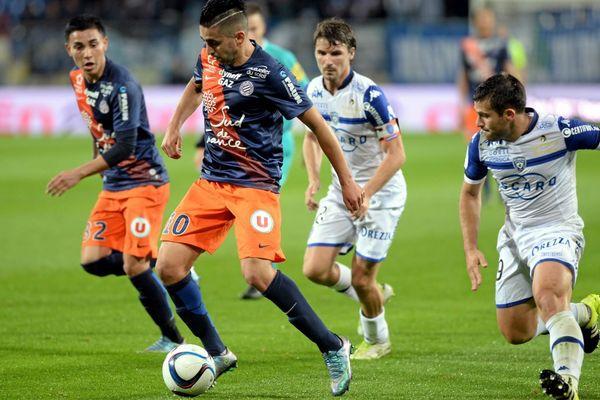 Ryad Boudebouz a inscrit son premier but en Ligue 1 pour le MHSC samedi 24 octobre à La Mosson, contre Bastia.