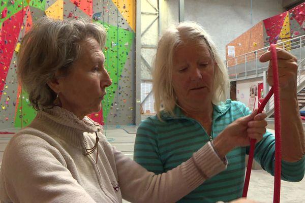 Gap : Marie-Laure et Michèle se sont rencontrées dans ces cours d'escalade réservés aux malades.