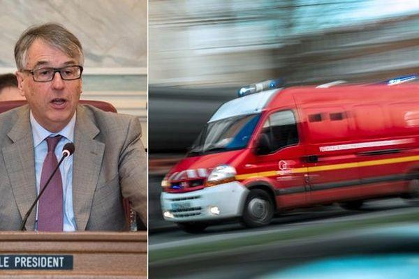Jean-René Lecerf trouve que les pompiers ne travaillent pas assez.