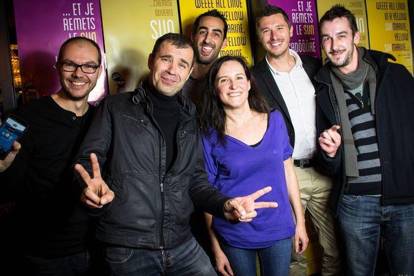 L'équipe de SUN autour avec son Directeur Pierre Boucard (à gauche) lors de la soirée de lancement de l'application MySUN