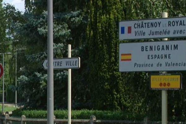 La ville de Châtenoy-le-Royal, dans l'agglomération de Chalon-sur-Saône, en Saône-et-Loire.