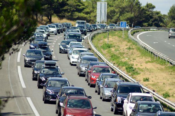 La circulation est fortement ralentie suite à un accident ( illustration )