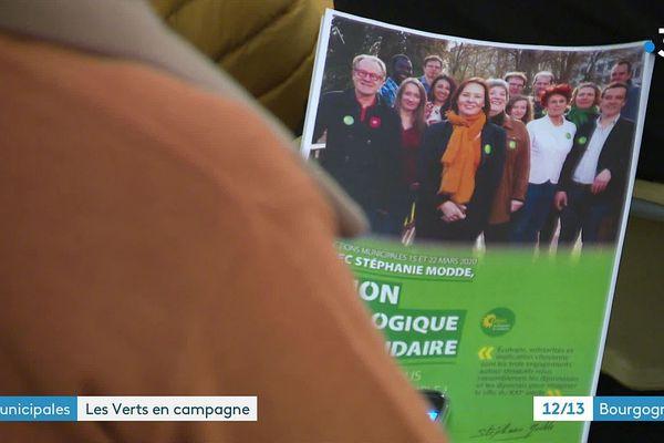 """Stéphanie Modde mène la liste """"Dijon écologique et solidaire"""" aux élections municipales des 15 et 22 mars 2020."""