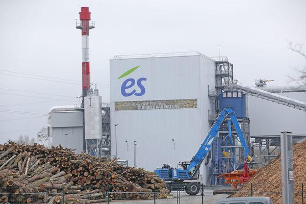 La centrale biomasse a été inaugurée en 2016 dans le quartier du Port du Rhin, à Strasbourg (Bas-Rhin).