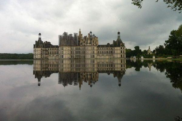 Le château entouré d'eau le 1er juin 2016