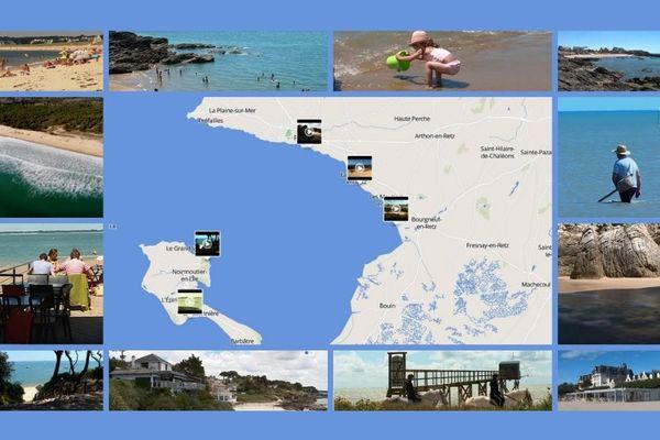 Grace à notre carte interactive, découvrez en vidéo les plages de Loire-Atlantique et Vendée