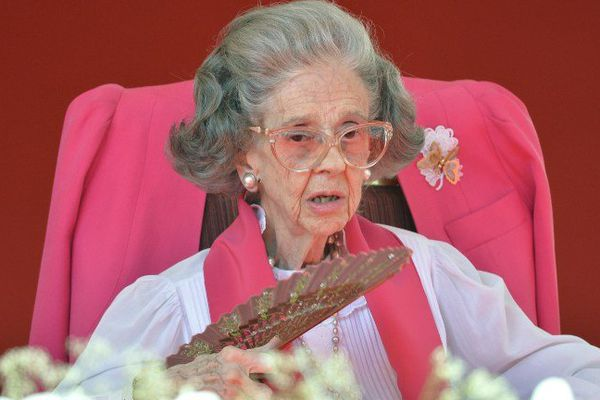 L'ancienne reine de Belgique, Fabiola, en 2013.