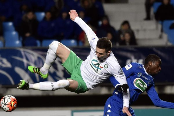 Coupe de France - 8e de finale -Troyes / ASSE -  Nolan Roux et Dabo - 10/2/16