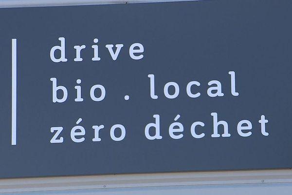 """Le drive, c'est """"une épicerie nouvelle génération pour rendre plus rapide et plus pratique l'offre bio, locale et zéro déchet""""."""